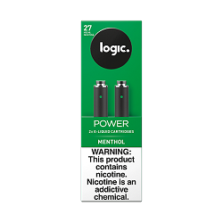 Logic Cartridges Menthol 27 mg/ml 2 Ct 10pc
